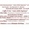 Caffè d'Arte Amici della Sapienza del 28 Gennaio 2020