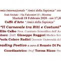 Caffè d'Arte Amici della Sapienza del 18 Febbraio 2020